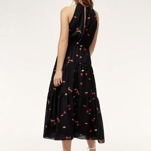 Aritzia Dresses - Aritzia Wilfred Effet Dress // Black/Goji Berry